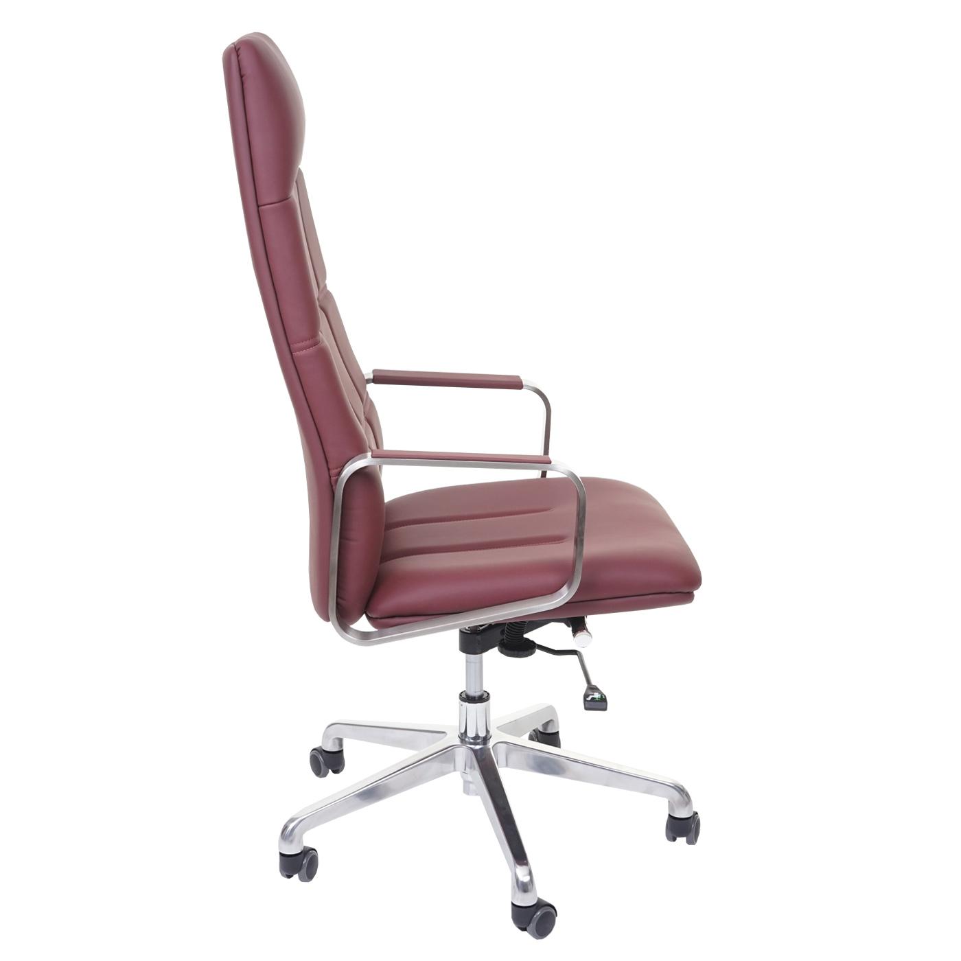 b rostuhl hwc a57 schreibtischstuhl drehstuhl voll leder kunstleder edelstahl iso9001 weinrot. Black Bedroom Furniture Sets. Home Design Ideas