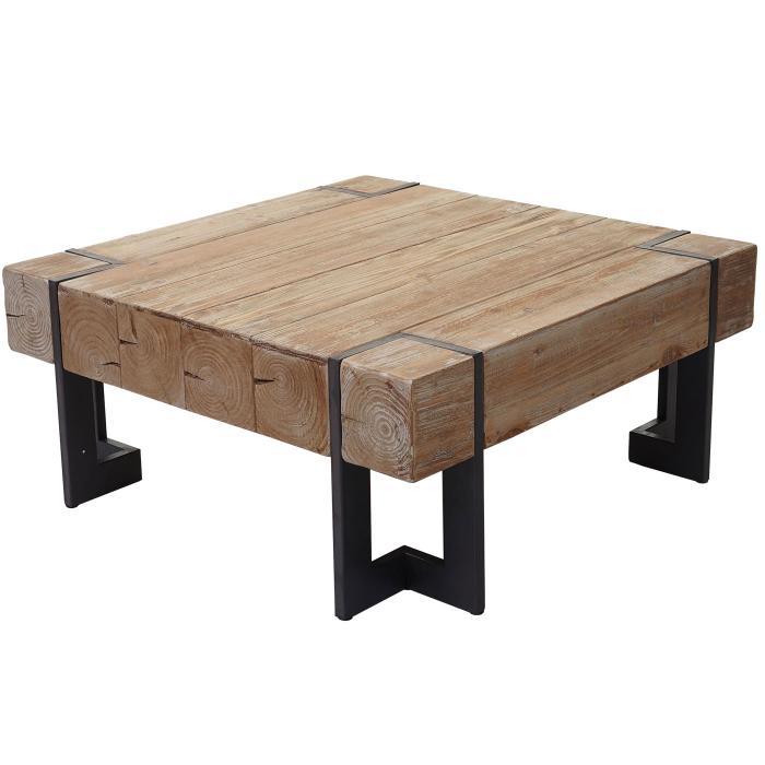 Couchtisch Hwc A15 Wohnzimmertisch Tanne Holz Rustikal Massiv 90x90cm