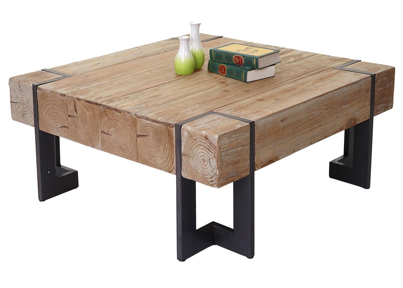 Brilliant Couchtisch Holz Rustikal Referenz Von Hwc-a15, Wohnzimmertisch, Tanne Massiv 56887