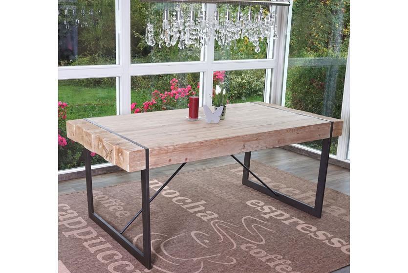 Esszimmertisch HWC A15, Esstisch Tisch, Tanne Holz rustikal massiv ~ 75x180x90cm