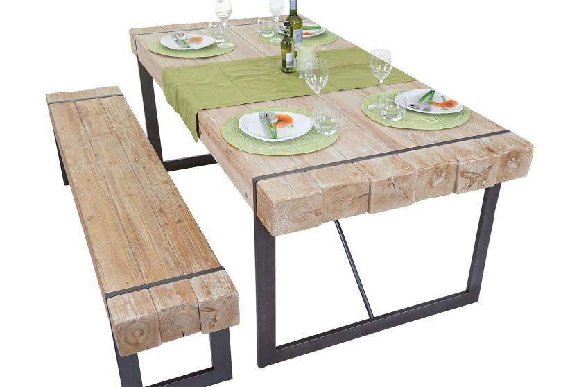 esszimmergarnitur hwc a15 esstisch 1x sitzbank tanne. Black Bedroom Furniture Sets. Home Design Ideas