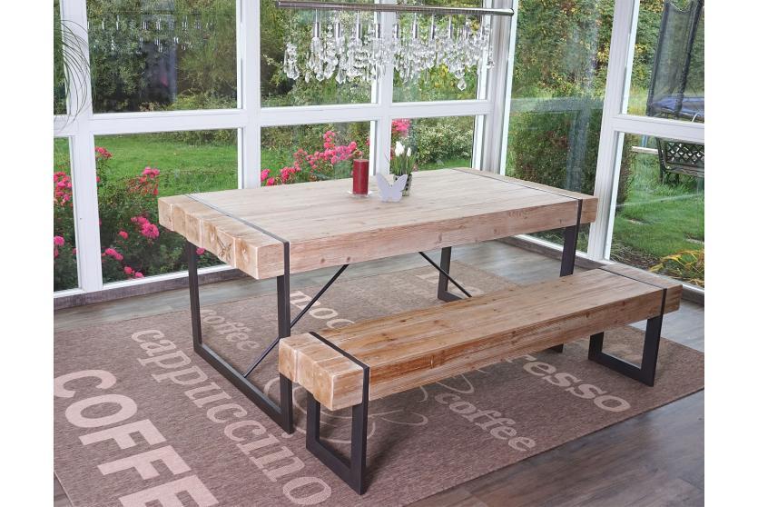 esszimmergarnitur hwc a15 esstisch 1x sitzbank tanne holz rustikal massiv 180cm. Black Bedroom Furniture Sets. Home Design Ideas