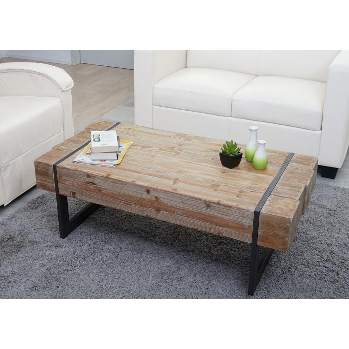 Couchtisch Holz Rustikal hwc a15a wohnzimmertisch tanne holz rustikal massiv 40x120x60cm