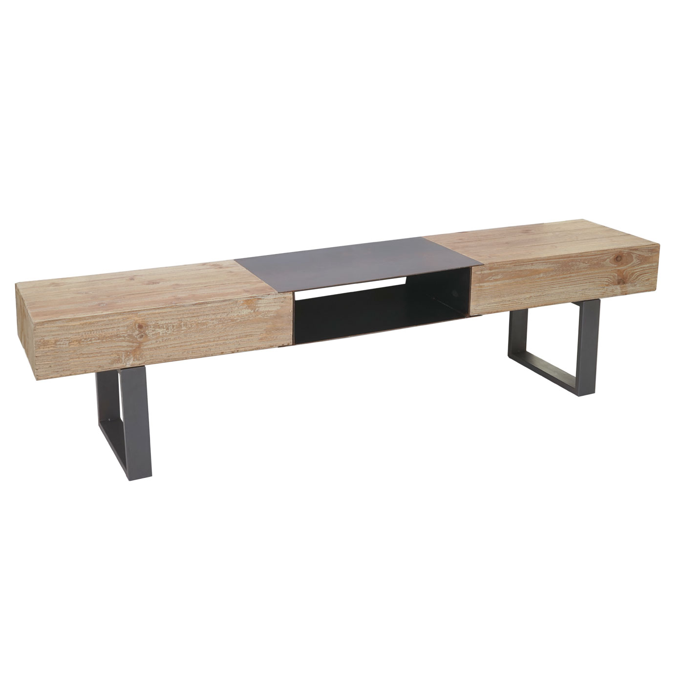 tv rack hwc a15 fernsehtisch tanne holz rustikal massiv 46x180x41cm. Black Bedroom Furniture Sets. Home Design Ideas