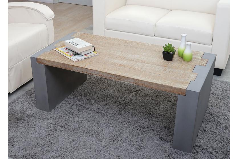couchtisch hwc a15 wohnzimmertisch beton optik tanne holz rustikal massiv 46x122x60cm. Black Bedroom Furniture Sets. Home Design Ideas