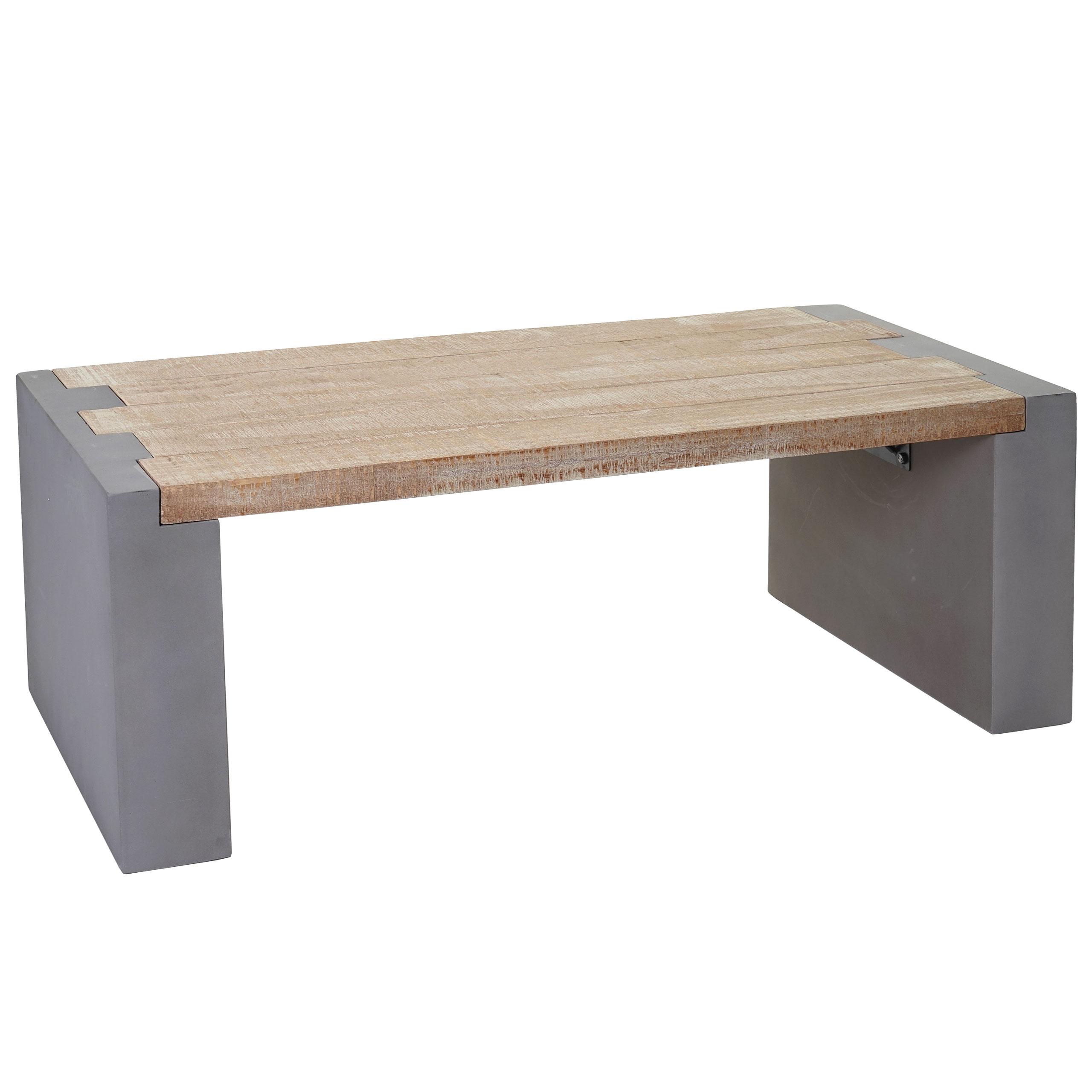 Details zu Couchtisch Wohnzimmertisch Beton-Optik Tanne Holz Tisch  Beistelltisch 56905