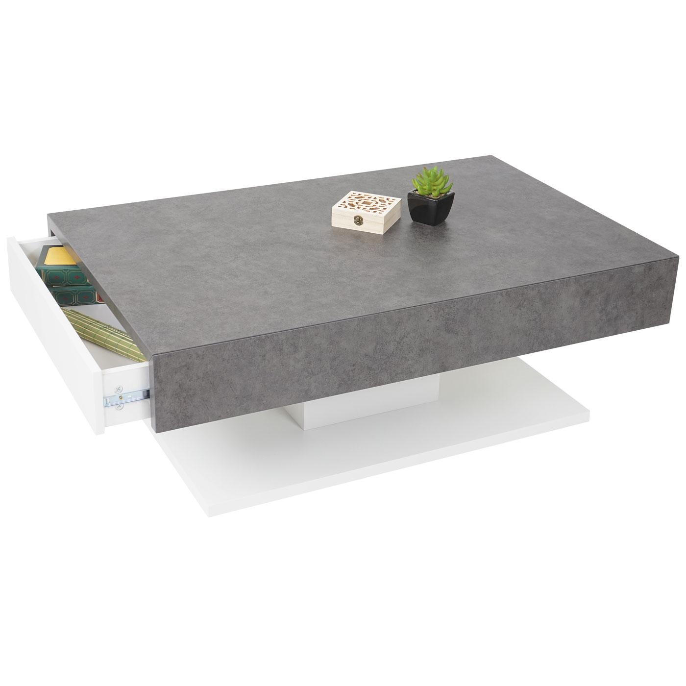 mca couchtisch hwc a26 wohnzimmertisch beton optik. Black Bedroom Furniture Sets. Home Design Ideas