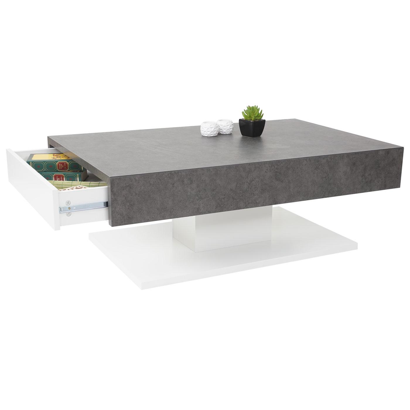 Mca couchtisch hwc a26 wohnzimmertisch beton optik 40x110x70cm - Beton wohnzimmertisch ...