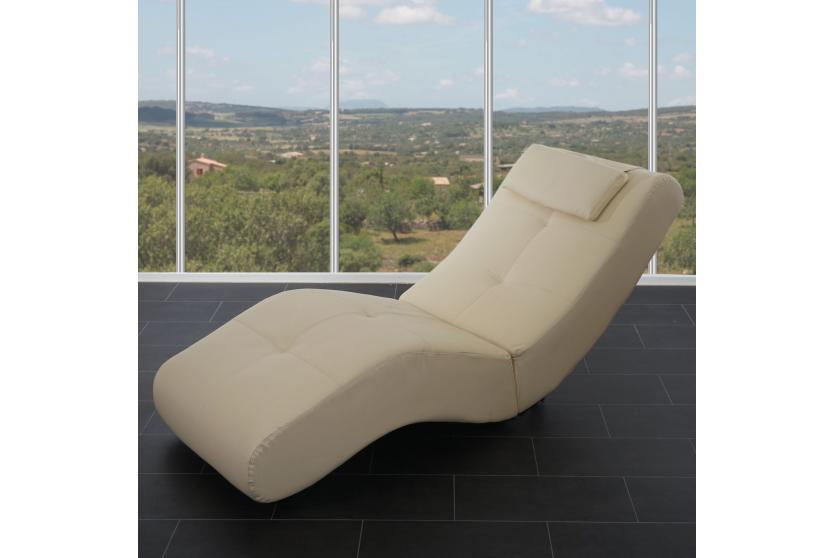Moderne Relaxliege relaxliege livorno iii recamiere chaiselongue kunstleder creme