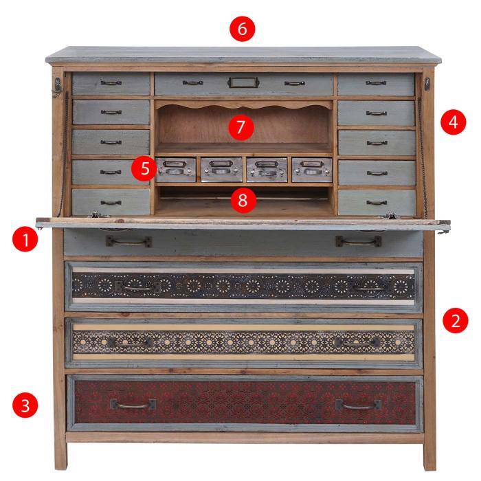 sekret r hwc a43 kommode schrank tanne holz massiv. Black Bedroom Furniture Sets. Home Design Ideas