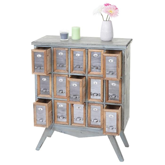 apotheker schrank hwc a43 kommode tanne holz massiv vintage shabby look 94x73x32cm. Black Bedroom Furniture Sets. Home Design Ideas