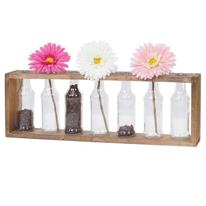 holz vase regal hwc a43 blumenvasen dekoflaschen glas tanne holz massiv shabby look 55x19x8cm. Black Bedroom Furniture Sets. Home Design Ideas