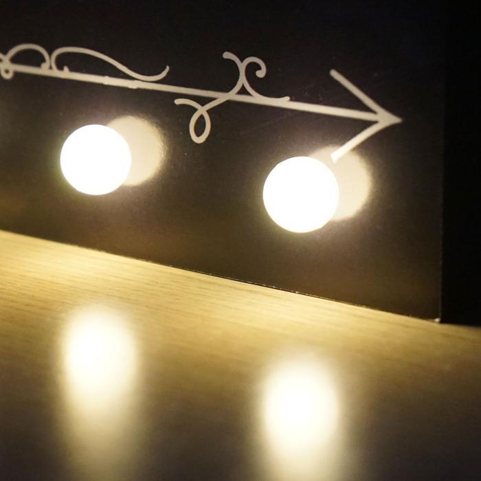 led bulb bild mit beleuchtung leuchtbild wandbild 25x20cm. Black Bedroom Furniture Sets. Home Design Ideas