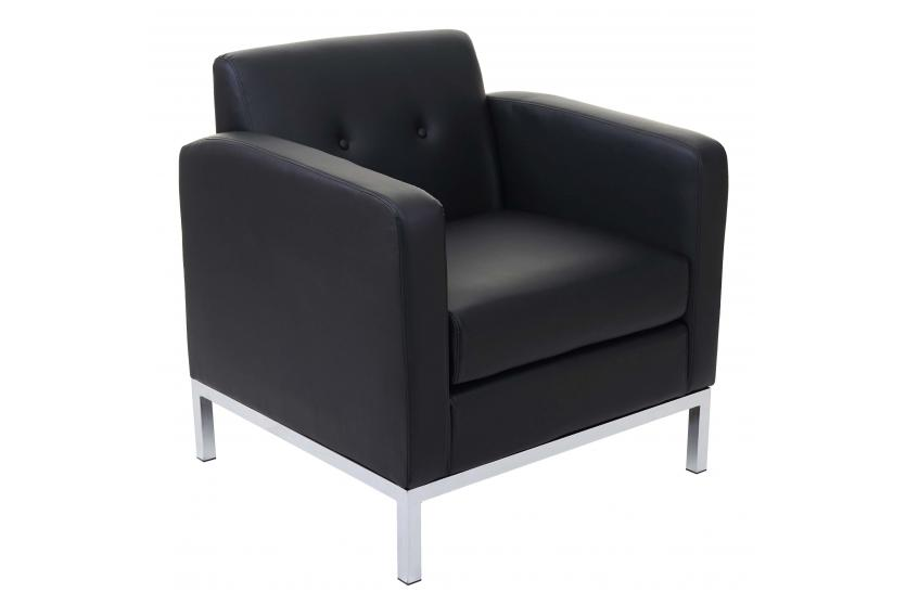 sessel hwc c19 modular sofa mit armlehne erweiterbar kunstleder schwarz. Black Bedroom Furniture Sets. Home Design Ideas