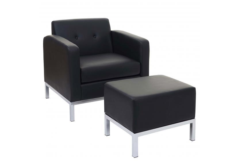 sessel mit ottomane hwc c19 modular sofa mit armlehnen. Black Bedroom Furniture Sets. Home Design Ideas
