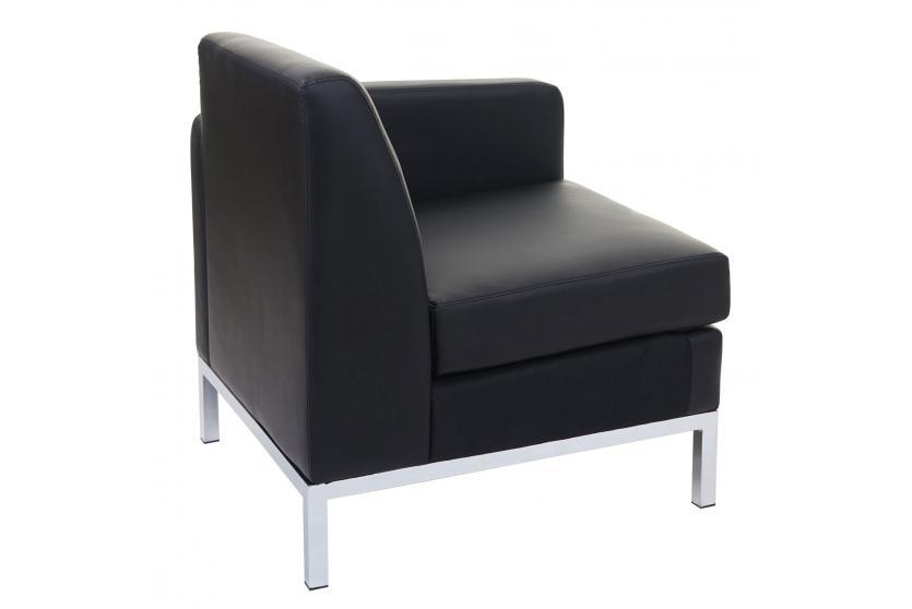 sessel hwc c19 modular sofa seitenteil rechts mit armlehne erweiterbar kunstleder schwarz. Black Bedroom Furniture Sets. Home Design Ideas