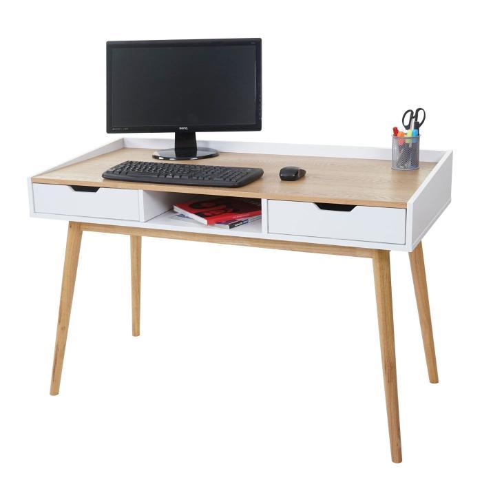 Schreibtisch Hwc A70 Computertisch Bürotisch 120x55cm Mdf Esche Optik