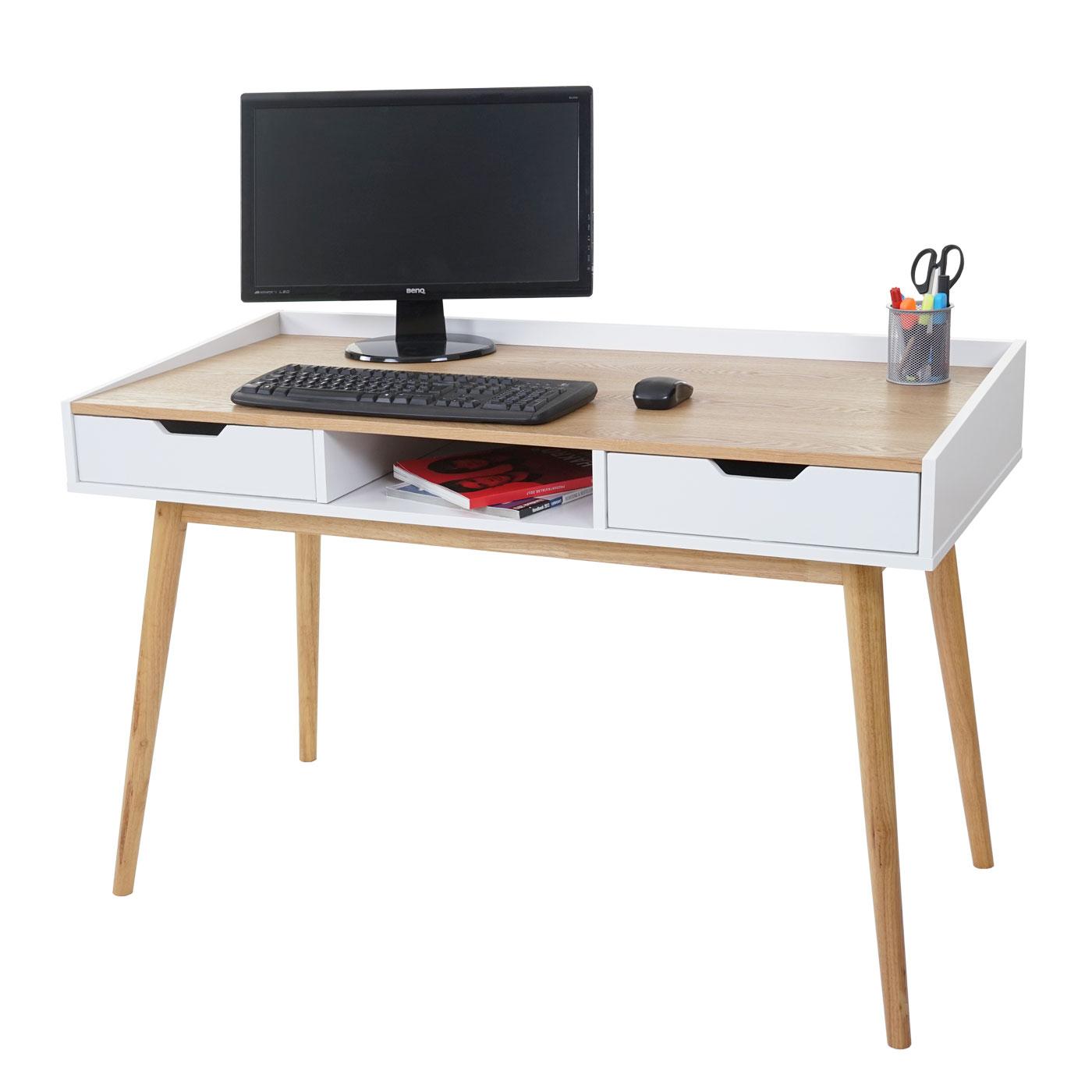 Schreibtisch hwc a70 computertisch b rotisch 120x55cm for Schreibtisch 70 x 160