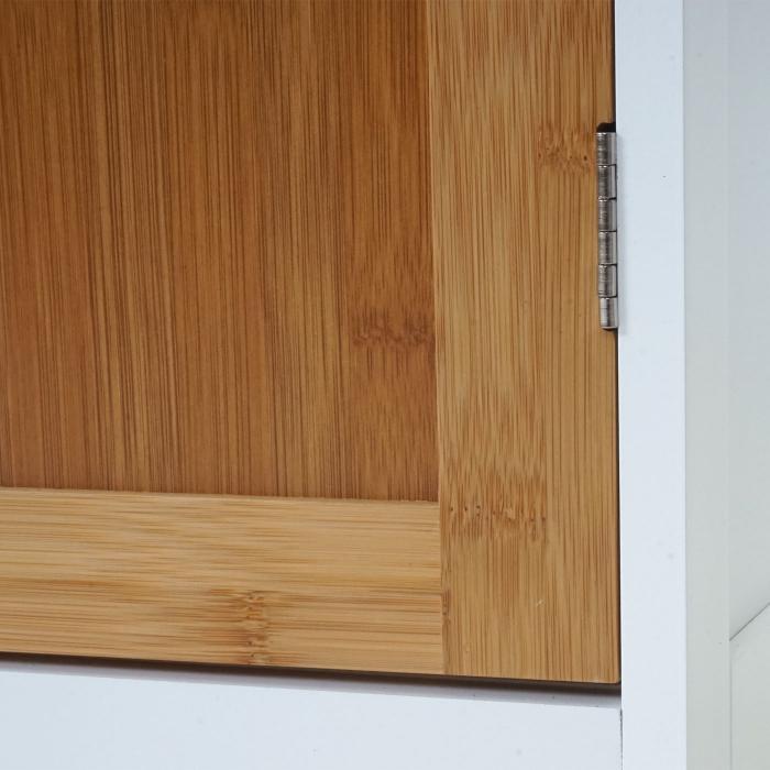 kommode hwc a85 badezimmerkommode badschrank bambus. Black Bedroom Furniture Sets. Home Design Ideas