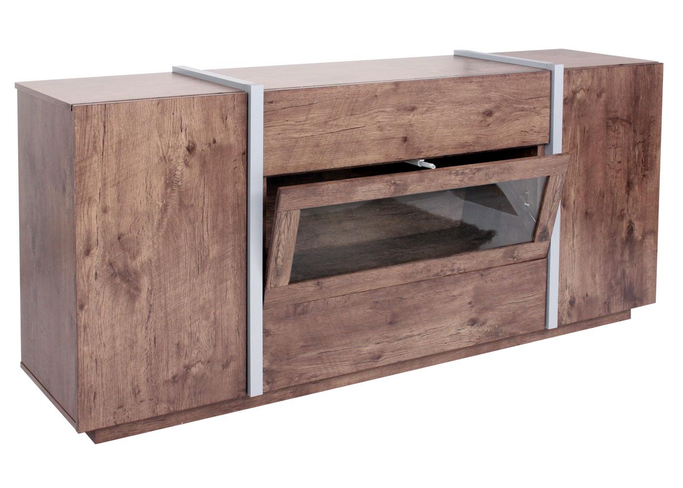kommode hwc b47 sideboard anrichte schrank glast r push to open 170x42cm ebay. Black Bedroom Furniture Sets. Home Design Ideas