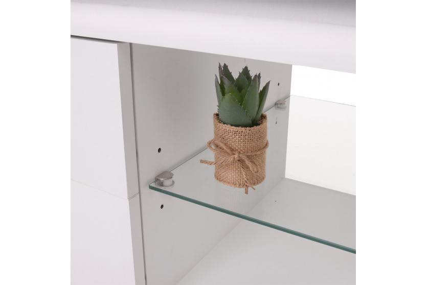 tv rack hwc b91 lowboard fernsehtisch mit schubladen schwarz wei 49x151x40cm. Black Bedroom Furniture Sets. Home Design Ideas