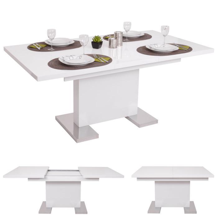 esstisch hwc b49 esszimmertisch tisch ausziehbar hochglanz edelstahl 120 160x90cm. Black Bedroom Furniture Sets. Home Design Ideas