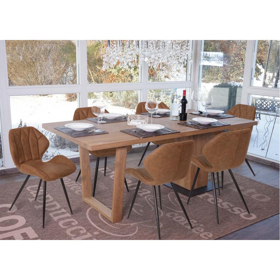 6x esszimmerstuhl hwc b46a stuhl wildleder look vintage for Stuhl wildleder