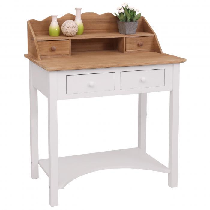 sekret r hwc b96 schreibtisch arbeitstisch kommode landhaus 102x77x48cm. Black Bedroom Furniture Sets. Home Design Ideas