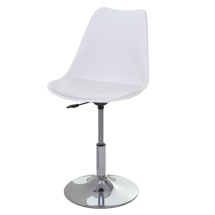 2x drehstuhl malm t501 stuhl lehnstuhl h henverstellbar kunstleder wei. Black Bedroom Furniture Sets. Home Design Ideas