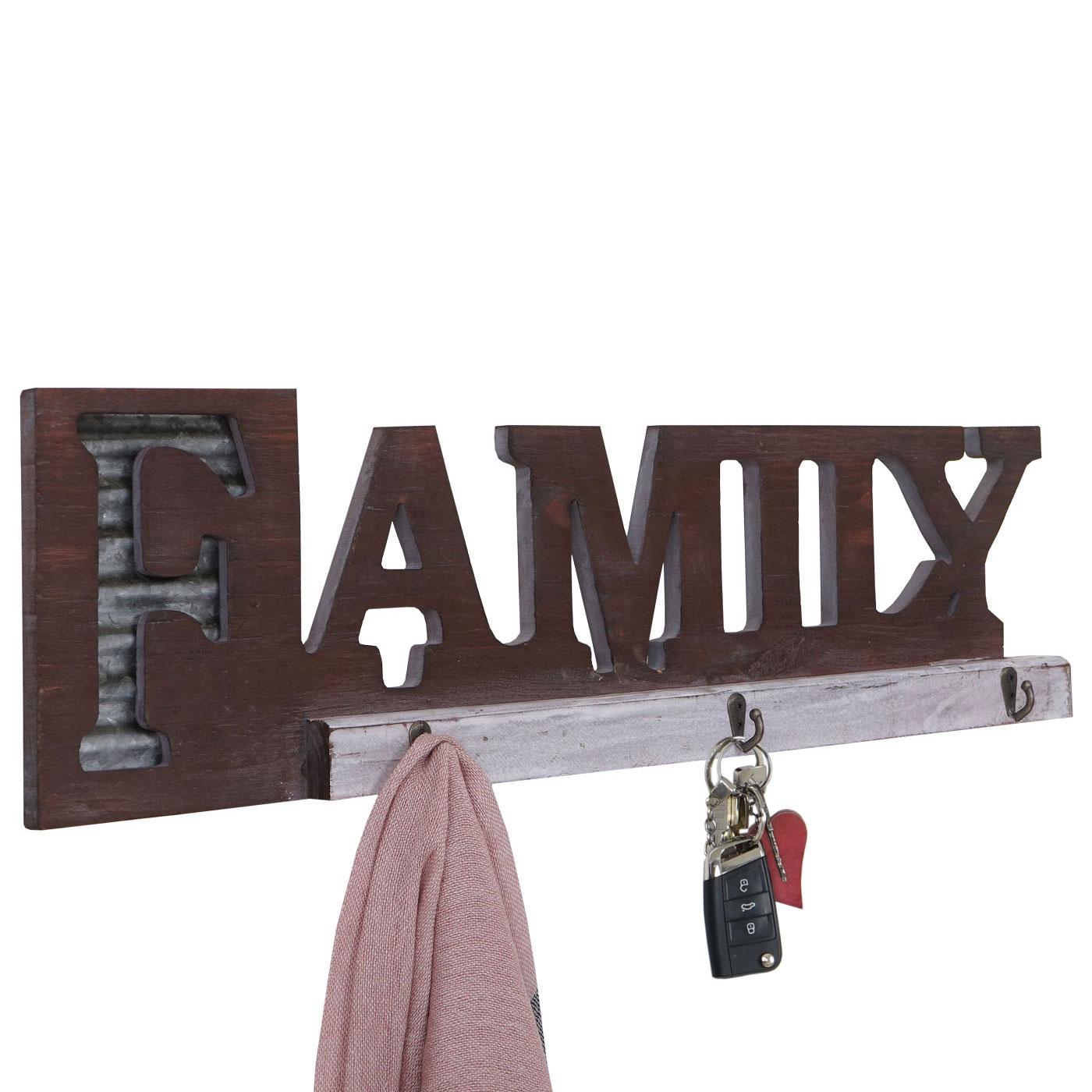 Wandgarderobe hwc a91 family garderobenpaneel landhaus for Garderobenpaneel holz