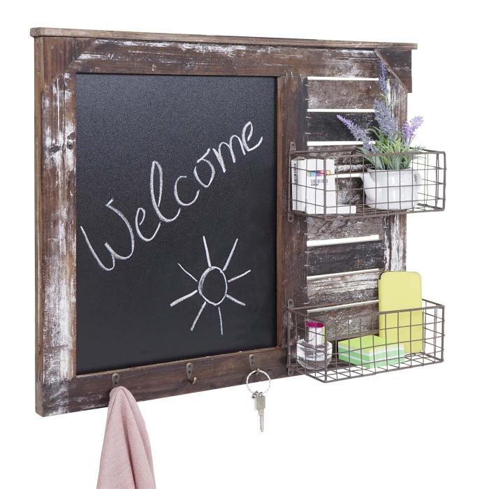 wandorganizer wandgarderobe hwc a94 mit tafel karbe shabby look vintage 56x68cm wand organizer baby