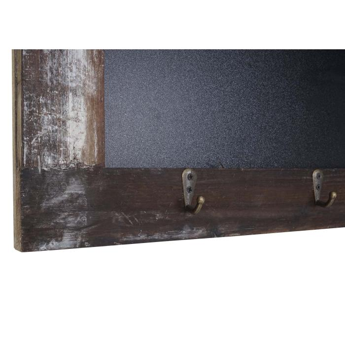Wandgarderobe HWC-A94, Wandorganizer mit Tafel, Körbe Shabby-Look ...