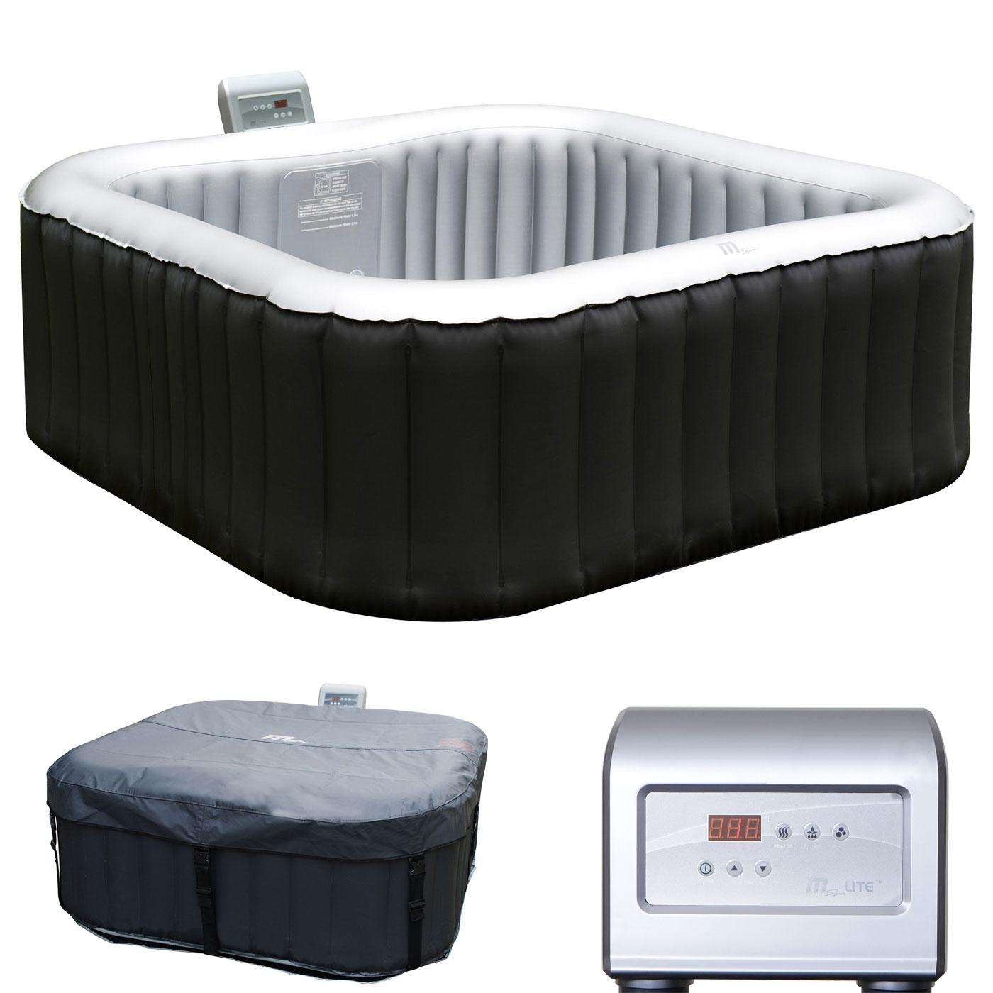 whirlpool mspa hwc a62 4 2 personen in outdoor heizbar aufblasbar 185x185cm ebay. Black Bedroom Furniture Sets. Home Design Ideas