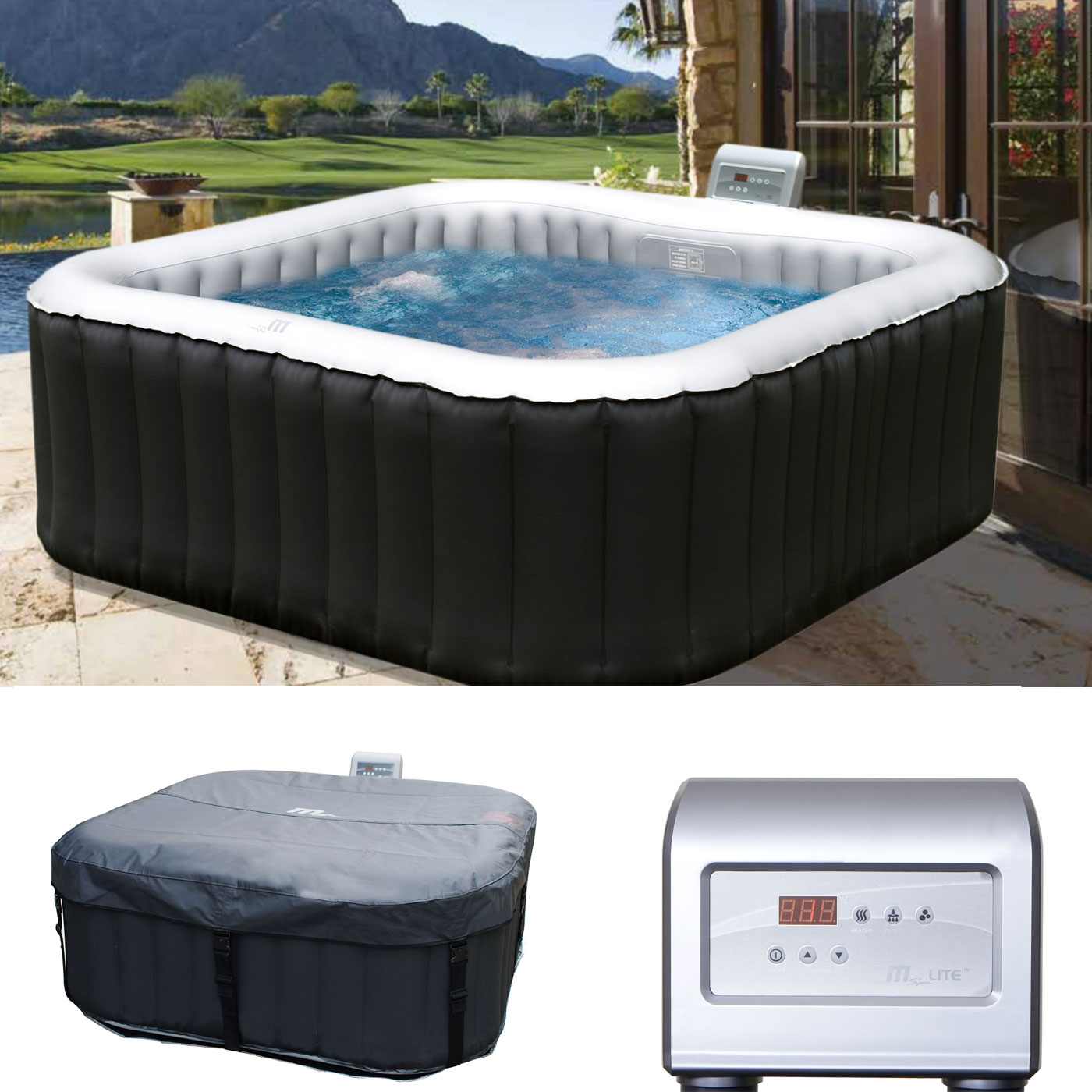 whirlpool mspa hwc a62 4 2 personen in outdoor heizbar. Black Bedroom Furniture Sets. Home Design Ideas