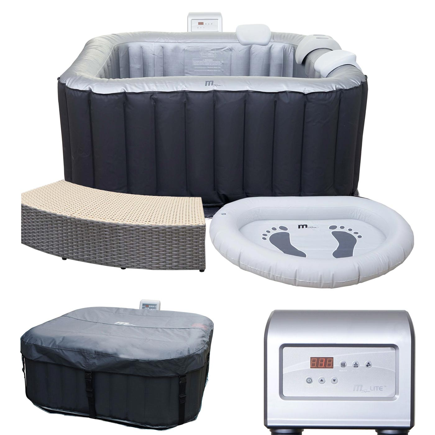 whirlpool mspa hwc a62 2 2 personen in outdoor heizbar aufblasbar 158x158cm ebay. Black Bedroom Furniture Sets. Home Design Ideas