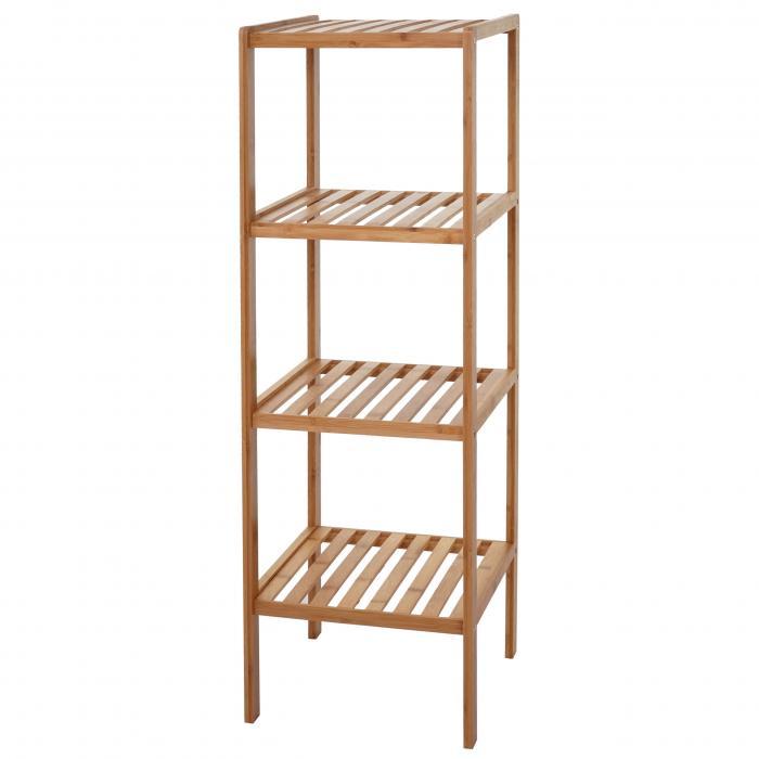 badregal hwc b18 badezimmer badschrank standregal bambus. Black Bedroom Furniture Sets. Home Design Ideas