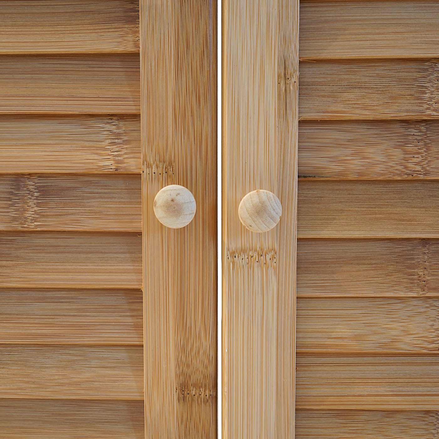 badezimmer badschrank waschbeckenunterschrank hwc b18 bambus 60x67x30cm ebay. Black Bedroom Furniture Sets. Home Design Ideas