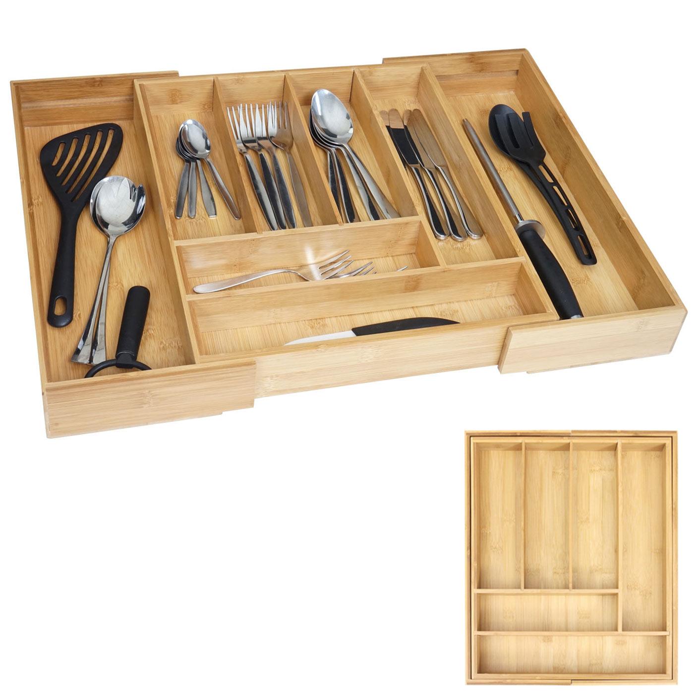 Portaposate hwc b20 inserto cassetti legno bambu - Portaposate per cassetti ...