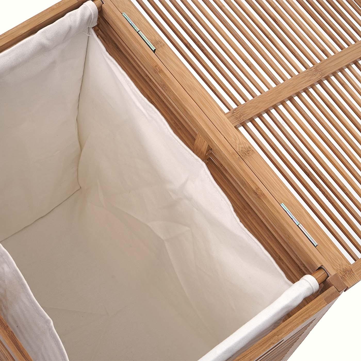 w schetruhe hwc b18 w schebox w schekorb w schesammler bambus 61x50x35cm. Black Bedroom Furniture Sets. Home Design Ideas