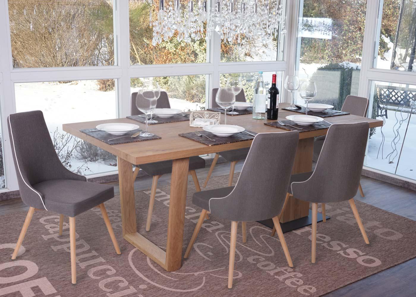 6x esszimmerstuhl hwc b44 stuhl lehnstuhl retro 50er jahre design textil ebay. Black Bedroom Furniture Sets. Home Design Ideas