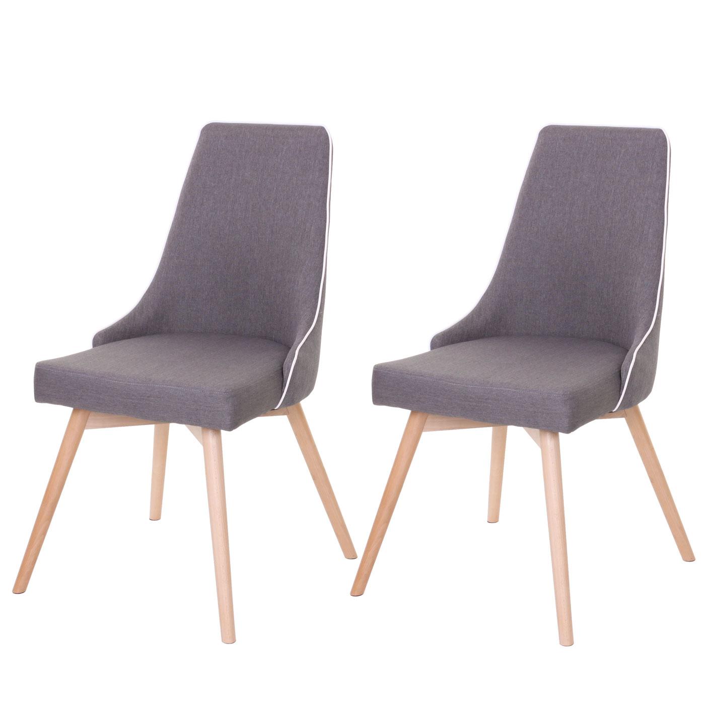 2x esszimmerstuhl hwc b44 stuhl lehnstuhl retro 50er jahre design textil dunkelgrau. Black Bedroom Furniture Sets. Home Design Ideas