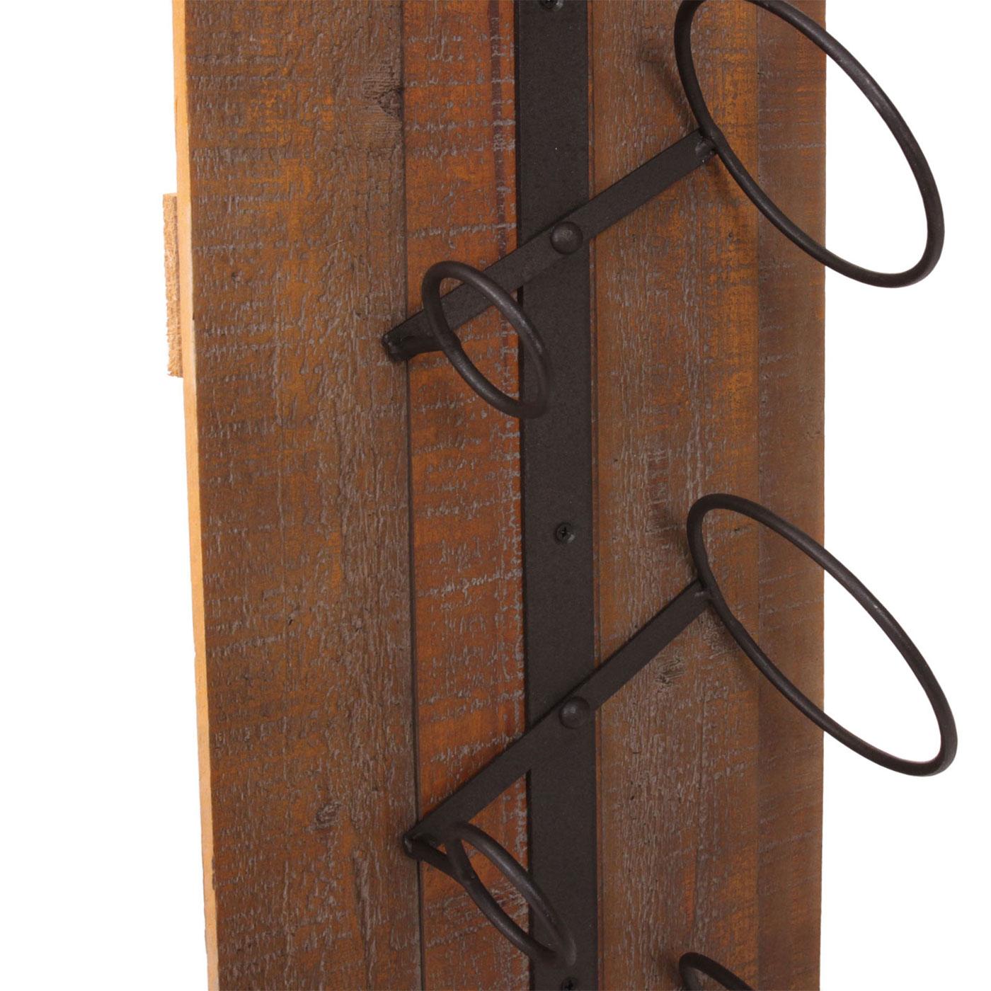 weinregal hwc b99 wandregal flaschenhalter holz metall f r 5 flaschen 96x23x14cm. Black Bedroom Furniture Sets. Home Design Ideas