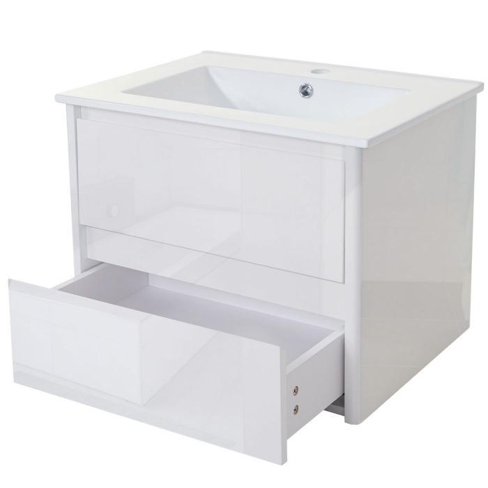 waschbecken unterschrank hwc b19 waschbecken waschtisch badezimmer hochglanz 50x60cm wei. Black Bedroom Furniture Sets. Home Design Ideas