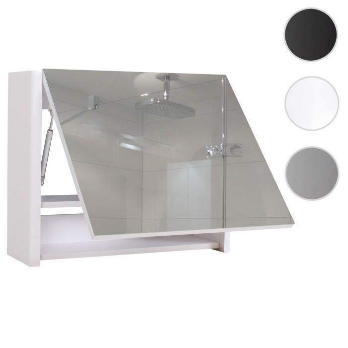 spiegelschrank hwc b19 wandspiegel badspiegel badezimmer aufklappbar hochglanz 48x59cm wei. Black Bedroom Furniture Sets. Home Design Ideas