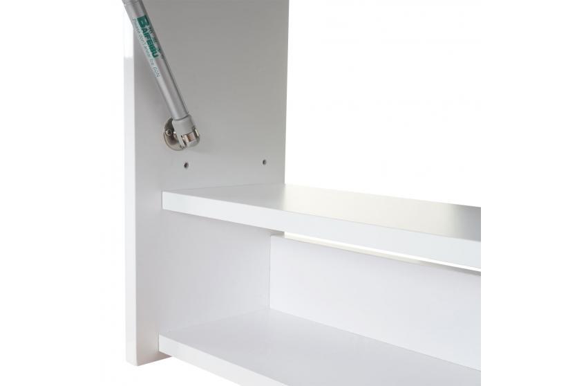 spiegelschrank hwc b19 wandspiegel badspiegel badezimmer aufklappbar hochglanz 48x79cm wei. Black Bedroom Furniture Sets. Home Design Ideas