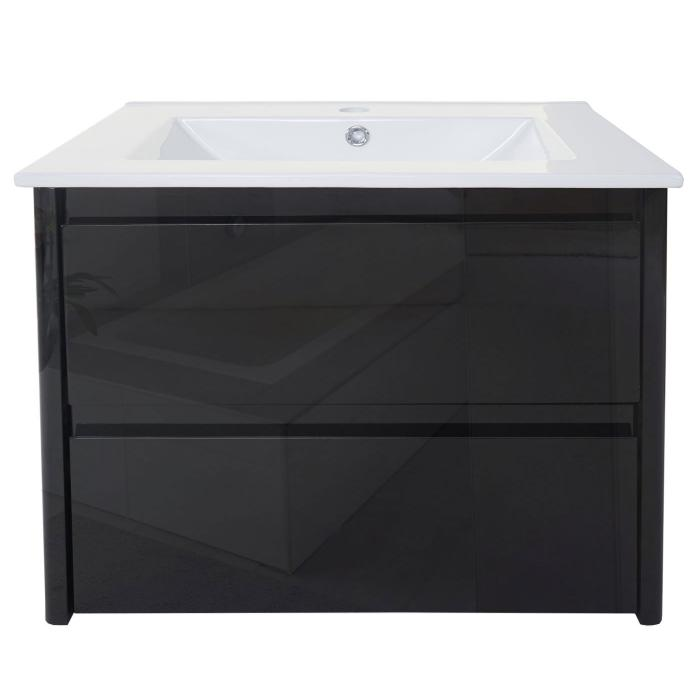 waschbecken unterschrank hwc b19 waschbecken waschtisch badezimmer hochglanz 50x60cm schwarz. Black Bedroom Furniture Sets. Home Design Ideas