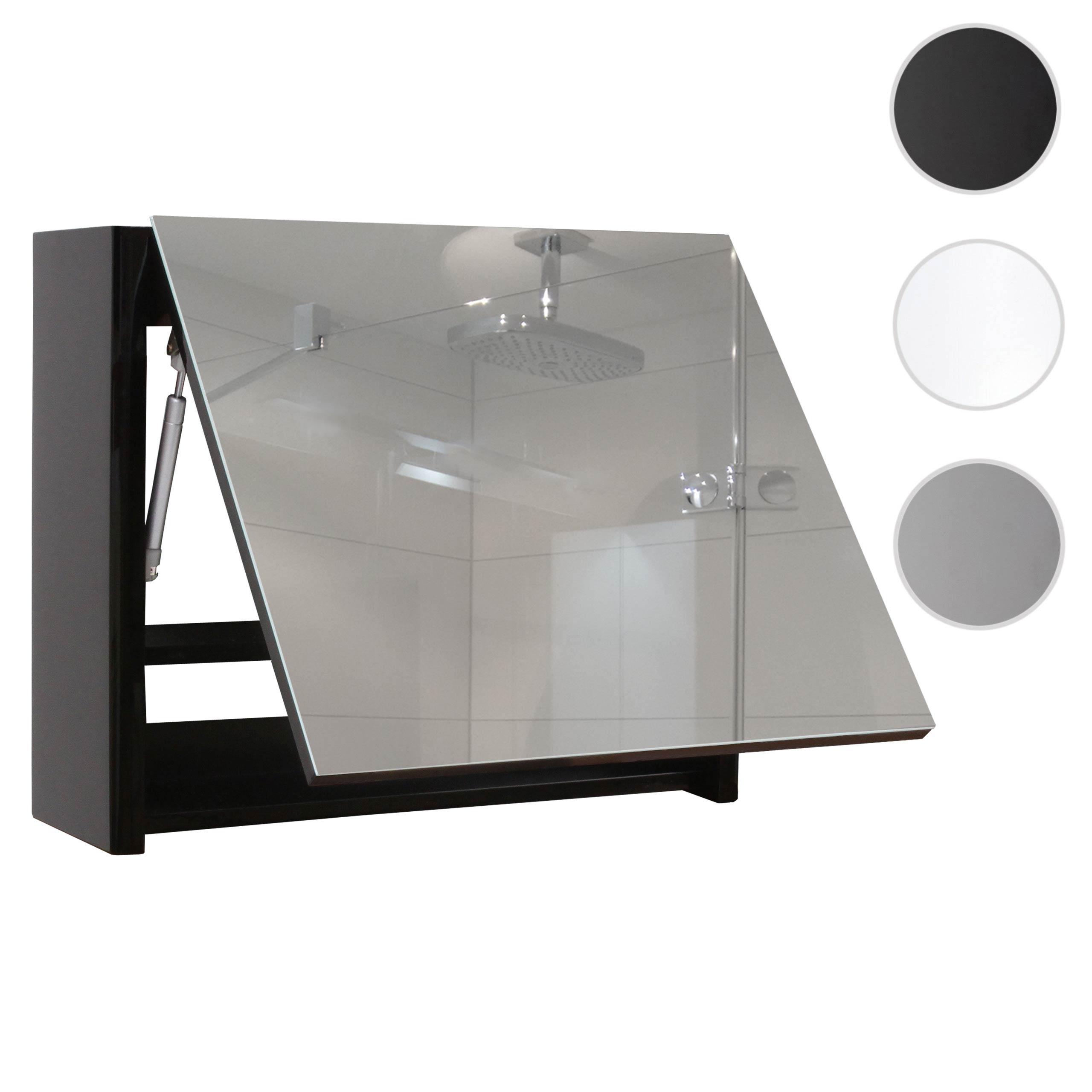 Mendler Spiegelschrank HWC-B19, Wandspiegel Badspiegel Badezimmer, aufklappbar hochglanz 48x59cm ~ Varianten 57621