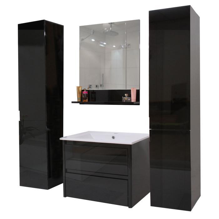 Badezimmerset Hwc B19 Waschtisch Wandspiegel 2x Hangeschrank