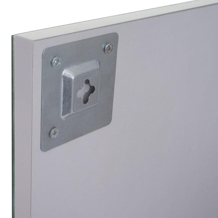 wandspiegel mit ablage hwc b19 badspiegel badezimmer hochglanz 75x60cm grau. Black Bedroom Furniture Sets. Home Design Ideas