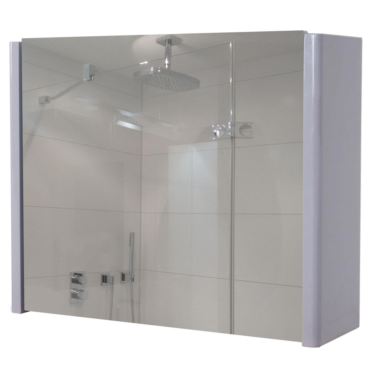 spiegelschrank mcw b19 badezimmer aufklappbar hochglanz 48x59cm grau 4057651189383 ebay. Black Bedroom Furniture Sets. Home Design Ideas